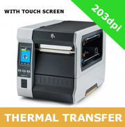 Zebra ZT620 (203dpi) with USB 2.0, Serial, Gigabit Ethernet, Bluetooth 4.0, Dual USB Host & CUTTER and TOUCH SCREEN (ZT62062-T1E0200Z)
