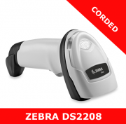 Zebra DS2208 1D/2D imager / WHITE / USB corded with stand (DS2208-SR6U2100SGW)