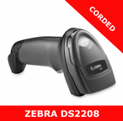 Zebra DS2208 1D/2D imager / BLACK / USB corded with stand (DS2208-SR7U2100SGW)