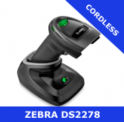 Zebra DS2278 1D/2D imager / BLACK / Bluetooth cordless with cradle (DS2278-SR7U2100PRW)