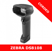 Zebra DS8108 1D/2D imager / BLACK / USB corded with stand (DS8108-SR7U2100SGW)