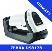 Zebra DS8178 1D/2D imager / WHITE / Bluetooth cordless with cradle (DS8178-SR6U2100S2W)