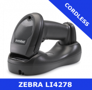 Zebra LI4278  scanner / BLACK  / Bluetooth cordless / USB cradle (LI4278-TRBU0100ZER)