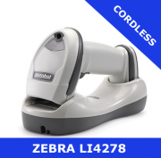 Zebra LI4278  scanner / WHITE  / Bluetooth cordless / USB cradle (LI4278-TRWU0100ZER)