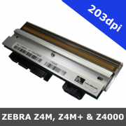 Zebra Z4M, Z4M+ and Z4000 / 203dpi replacement printhead (G79056-1M)
